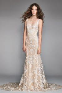 Woman wearing a Willoby wedding dress